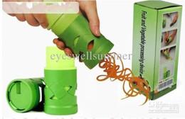 Venta al por mayor de Dispositivo de procesamiento de frutas y verduras Twister Cutter Slicer Kitchen Utensil Tool envío gratis