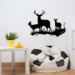 $enCountryForm.capitalKeyWord UK - 2017 Hot Sale Deer New Design Family Vinyl Wall Sticker Animal Art Home Decor Creative Mural DIY