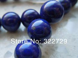 High Quality Natural Blue Egyptian Lapis Lazuli Round Loose Beads 4 6 8 10 12 14mm Semi-precious Stones on Sale
