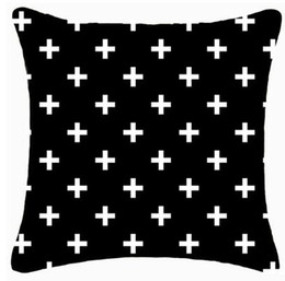 Designs For Beds Canada - New arrival design home decorative cushion cover multi-color geo black print reindeer and cross diamond for sofa bedding sets 5pcs lot