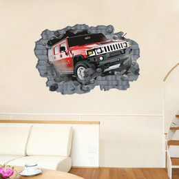$enCountryForm.capitalKeyWord Canada - AY8002 Supply Super Big Large 3D Car Wall Sticker Walls Wallpaper Rolls Wall Papers Home Bedroom Decor 70*100cm