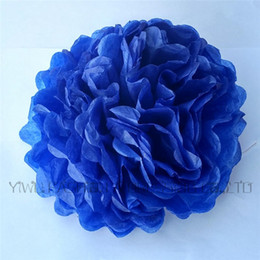 """Blue Yellow Green Tissue Pom Canada - Wholesale-New 3pcs 6"""" (15cm) Tissue Paper Flowers Pom Pom Balls For Wedding Party Decorations 29 colors Available Wholesale !!!"""