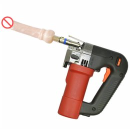 automatic women sex toy NZ - Sex Machine with Dildos Toy Automatic Retractable Pumping Thrusting Adjustable Sex Toys Small Hand Held Electric Drill for Women E5-1-39