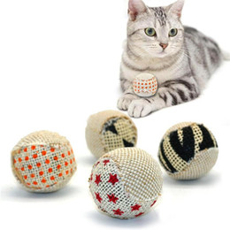 $enCountryForm.capitalKeyWord NZ - 4pcs pack Ball Cat Toy Interactive Cat Toys Play Chewing Rattle Scratch Catch Pet Kitten Cat Exrecise Toy Balls