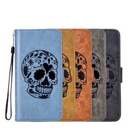Y3 Wallet NZ - Retro Skull Flip Wallet Leather Case For Huawei GR5 2017 NOVA 2 Plus P9 V9 Y5 2017 Y3 2017 Y7 Prime Honor 9 Cartoon Stand Phone Cover 50pcs