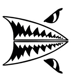 $enCountryForm.capitalKeyWord Canada - Hot Sale Mini Shark Teeth Great White Shark Body Personality Vinyl Decals Car Styling Car Stickers Accessories Jdm
