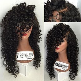 Curly Human Hair Lace Wigs for Black Women Full Head Full Lace Wigs Virgin  Human Hair Wigs Natural Color 00ece95378