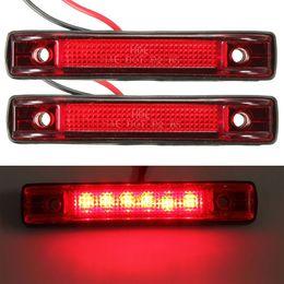 2 Pcs 6 LED Apuramento Lado Marcador de Luz Indicadora de Caminhão Reboque RV 12 V Carro Vermelho Auto LEVOU luzes de sinal de Volta venda por atacado