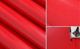 Red Living Room Furniture Canada - red color paint DIY wallpaper pearl furniture renovation stickers cabinets wardrobe stickers solid color wallpaper waterproof