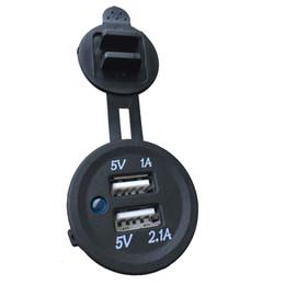 Wasserdichte USB-Ladegerät Adapter 12V-24V Eingangsspannung Buchse 12-24V Steckdose Strom Jack Marine-Motorräder von Generic im Angebot