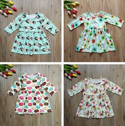 wholesale clothing lines for boutiques 2019 - 2018 Spring Girls Dresses Boutique Girls Clothing Kids Dresses for Girls Long Sleeve Dress Cotton Flower Girl Dress Infa