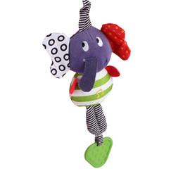 $enCountryForm.capitalKeyWord Canada - Wholesale- Elephant Baby Toys Rattle New Infant Plush Mobile Baby Toys Lather Crib Car Hanging Rattles Bebe Stroller