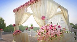 2017 Wedding Decorations Canopy 3M*3M*3M Hotsale Cream Color Square Canopy  Drape Chuppah
