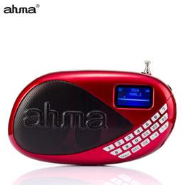 $enCountryForm.capitalKeyWord Canada - Wholesale-ahma AH608 Mini Radio FM Portable Rechargeable Built-in Loudspeaker Outdoor pocket MP3 Music Player support USB TF Card