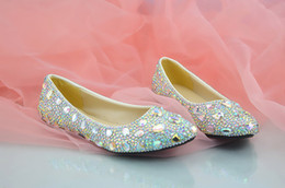 $enCountryForm.capitalKeyWord Canada - Wholesale Flats Shoes Ponted Toe Beaded Rhinestones Ladies Dating Pumps Shinning Prom Evening Shoes Cinderella Shoes Nighclub Party Crystal