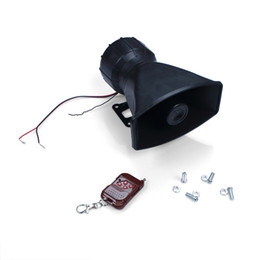 Wholesale 100W DC12V Sounds Speakers Car or Motorcycle Warning Siren Alarm Ambulance loudspeaker With Wireless Remote Control