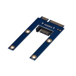 Discount ssd disk ide - Wholesale- Factory price Hot Selling 50mm Mini PCI-E mSATA SSD To Flat SATA 7p Hard Disk Drive PCBA Extension Adapter Dr