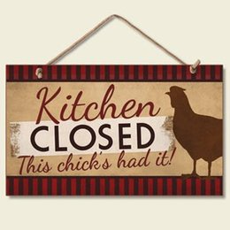 Woods Wall Decor Canada - Wood Sign for kitchen-Kitchen Closed This chicks had it,wall sign wood plaque for our kitchen decor