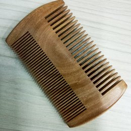 sandalwood hair comb 2019 - Natural green wide tooth tooth health Green Sandalwood fine anti-static SHUNFA massage comb cheap sandalwood hair comb