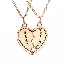 2016 Best Friends Gifts Love Pendant Necklaces High Grade Alloy Jewelry For Birthday Gift To A BestfriendZJ 0903262