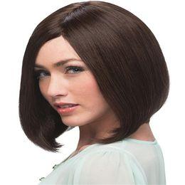$enCountryForm.capitalKeyWord UK - Full Lace Wigs unprocessed virgin Full Lace Human Hair Wig Senior silk Long Wavy Brazilian Virgin Hair 100% With Bangs For women Color 2#