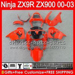 Zx9r fairing red online shopping - 8Gifts Colors For KAWASAKI NINJA ZX R ZX R gloss red NO65 ZX R CC ZX900 ZX900C ZX9R Fairing kit