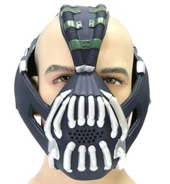 2017 bane costume Bane Mask Deluxe Teen Adult Dark Knight Rises Prop for Halloween Cosplay Costume Accessory Xcoser