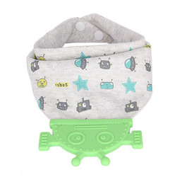 China Baby Bandana Drool Bibs for Drooling & Teething Boys and Girls with Attached Robot Teether Toy, Super Absorbent 100% Cotton, Great G cheap boys bandana bib suppliers