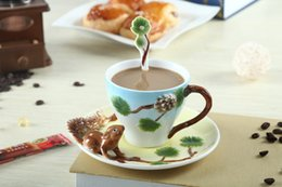 $enCountryForm.capitalKeyWord Canada - 3D Animal Ceramic Bone Coffee Mugs Coffee Tea Sets For Friend Gift Christmas Gifts