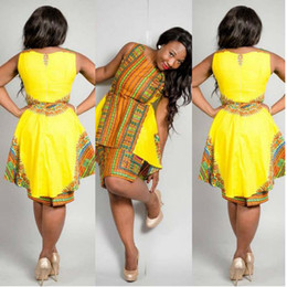 Dashiki Africa Clothing Traditional African Print Party Dresses sleeveless Dress  Plus Size Tops african Plus Size Woman Bazin 7cde33e8d184