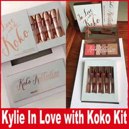 Barato Eyeshadow Lipgloss Blush-Kylie In Love com Koko KOLLECTION Blush Highlighter Palette + batom lipgloss Contour eyeshadow Por KYLIE Cosmética