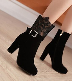 Belted Boots NZ - Wholesale New Arrival Hot Sale Specials Super Influx Martin Winter Big Designer Cowgirl Suede Lace Belt Buckle Wedding Ankle Boots EU34-43