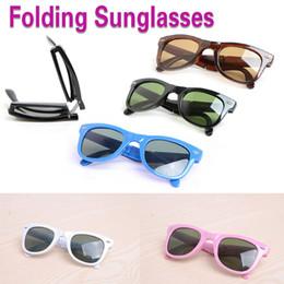 Discount folding sunglasses - high quality Folding Sun glasses brand Sunglasses Classic Folding beach sunglasses womens Sun glasses mens glasses come