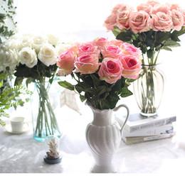 $enCountryForm.capitalKeyWord NZ - Wedding Bouquet Silk Flowers Fake Rose Leaf Artificial Home Decoration Wedding Engagement Prom Party Decor Bridal Bouquet Flower
