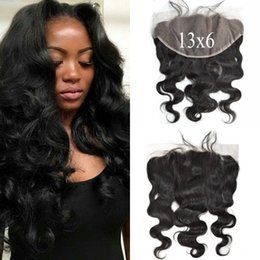 $enCountryForm.capitalKeyWord NZ - Lace Frontal 13x6 Brazilian Body Wave Human Hair Closure Free Part Virgin Wavy Full Frontal Lace Closure LaurieJ Hair