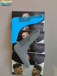 Coupe-cheveux Professionnelle Barbe Pas Cher-Professionnel The Beard Shaper Comb Crée des barbes Symmith Keep Perfect Cheek Lines Cou Lines Facicl Hair Shaping Tool For Beard Trimmer