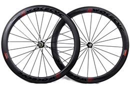 carbon wheels powerway Canada - Carbon fiber bicycle wheels 50mm basalt brake surface clincher tubular road cycling bike wheelset Novatec powerway Hubs available UD matt