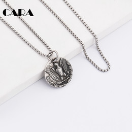 $enCountryForm.capitalKeyWord Canada - CARA New arrival hip hop 316l stainless steel eagle pendant necklace biker jewellery mens fashion animal jewelry 2017 wholesale CAGF0163