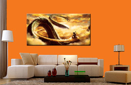 $enCountryForm.capitalKeyWord Canada - Wall Art Picture Dragon Ball Goku Fly with Dragon Spray Painting on Canvas Unframed HD Print Wholesale Home Decoration