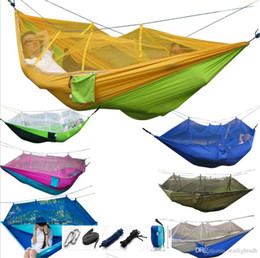 $enCountryForm.capitalKeyWord Canada - Hammock Parachute cloth with mosquito net hammock camping tent lightweight breathable air swing for Outdoor bed out178