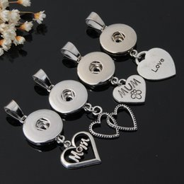 wholesale bulk crosses UK - Bulk 18MM Noosa Chunks Snap Button Pendant Tree of Life Mom Heart Key Angel flower charm For Ginger Snap necklace Jewelry Making