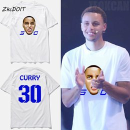 New fashion t shirt men luxury Adorable God Mask 3D Stephen curry jersey  30  basketball 0153bedbac59f