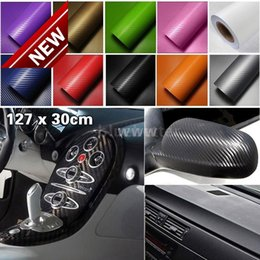 3d Film Rear NZ - Upgraded 127*30CM 3D Auto Carbon Fiber Vinyl Film Carbon Car Wrap Sheet Roll Film Paper Motorcycle Car Stickers Decal Free Shipping