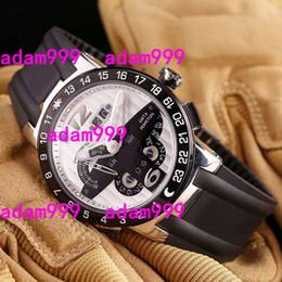 Venta al por mayor de Reloj mecánico para hombre de los hombres Reloj perpetuo del EL Toro de la ONU Reloj blanco de la goma del dial de MULTI-FUNCTIONS de los hombres del negocio del regalo del negocio de los hombres de los deportes Relojes de pulsera