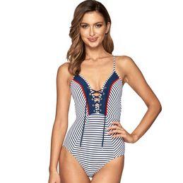 40cc4eafa1 2017 new wholesale customized bikinis swimwear Women sexy Triangle stripe Swimsuit  one piece mature bikini