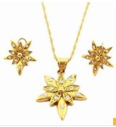 wonderful necklace Canada - wonderful yellow gold filled women's set necklace earings (sp3658) xrgetg
