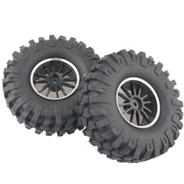 $enCountryForm.capitalKeyWord UK - 4x Aluminum Wheel Rubber Tires Sponge Rim RC Climbing Car Racing 123HS-7006L