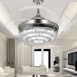Folding ceiling fans nz buy new folding ceiling fans online from modern led invisible crystal ceiling fans with lights 42 inches living rom bedroom folding ceiling fans chandelier with remote control aloadofball Images