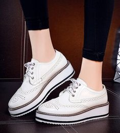 patent leather platform sexy shoes 2018 - Wholesale New Arrival Hot Sale Specials Sweet Girl Sexy Noble Patent Spring Party Single Lace Up Casual Slope Platform W