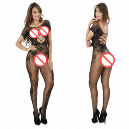 Barato Camisola Transparente-Sexy Nightie Transparente Hot Sale Mulheres Sexy Lingerie Bodystockings quentes Bodysuit Sexy Open Crotch Mesh Fishnet Bodystocking Atacado